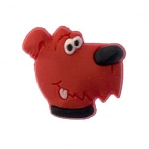 Jibbitz Dog Red