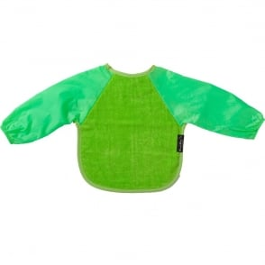 Mum2Mum Sleeved Wonder Bib Large Lime, Full upper body cover