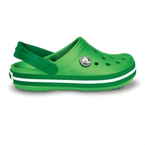 Crocs Kids Crocband Shoe Lime/Kelly Green, All the comfort of a Classic but with a Retro look