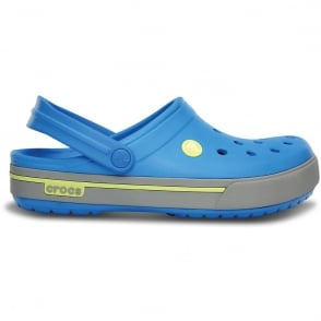 Crocs Crocband II.5 Clog Ocean/Citrus, Retro styled slip on croslite shoe