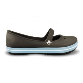 Crocs Girls Genna Espresso, Slip on ballet flat style shoe