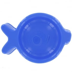 United Pets Fish Shaped Food Bowl Blue, Strong and easy to clean pet food bowl