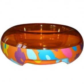 United Pets ET Temperature Food Bowl Small Flower, Keep food cool or warm