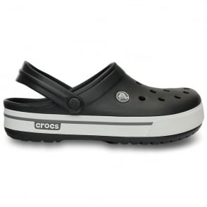 Crocs Crocband II.5 Clog Black/Charcoal, Retro styled slip on croslite shoe