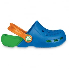 Crocs Kids Electro Shoe Sea Blue/Lime, light weight clog, double colours - double fun!