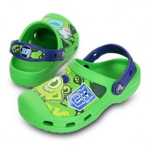 Creative Crocs Monsters Clog Neon Green/Cerulean Blue, the comfort of crocs but with friends!