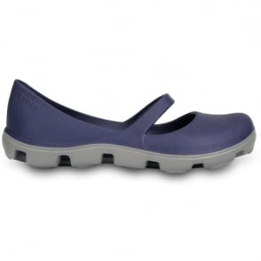 Crocs Ladies Duet Sport Mary Jane Navy/Smoke, Dual Density Comfort