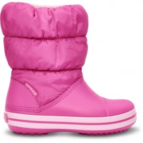 Crocs Kids Winter Puff Boot Fuchsia/Bubblegum, puffed boots for warmth