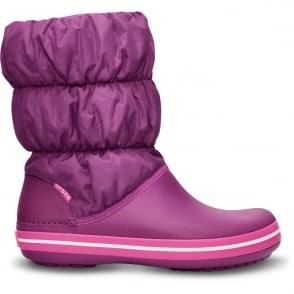 Crocs Womens Winter Puff Boot Viola/Fuchsia, puffed boots for warmth