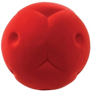 Rubbabu Ball Button Red, Natural foam toys in simple shapes and bright colours