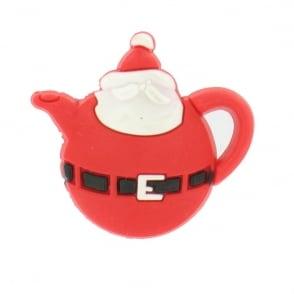 Shoe Charms Christmas Teapot