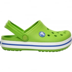 Crocs Kids Crocband Shoe Volt Green/Varsity Blue, All the comfort of a Classic but with a Retro look