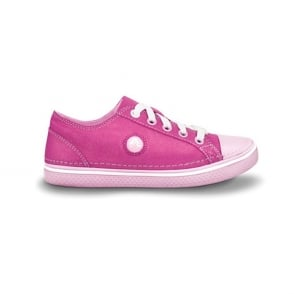 Crocs Girls Hover Sneak Metallic Fuchsia/Bubblegum, Retro styled classic sneaker with a metallic shimmer