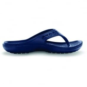 Baya Flip Navy, ultra-lightweight comfort and signature Crocs name along the side