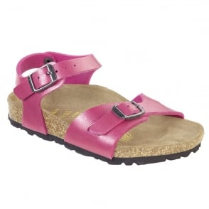 Birkenstock Kids Rio 731493 Rose Red, Girls Birkie Sandal