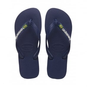 Havaianas Kids Brasil Logo Navy Blue, the original flip flop (but smaller!)