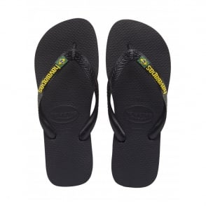 Havaianas Kids Brasil Logo Black, the original flip flop (but smaller!)