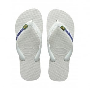 Havaianas Kids Brasil Logo White, the original flip flop (but smaller!)