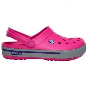 Crocs Crocband II.5 Clog Fuchsia/Light Grey, Retro stlyed slip on croslite shoe