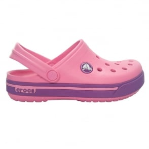 Crocs Kids Crocband II.5 Clog Pink Lemonade/Dahlia, All the comfort of a Classic but with a Retro look