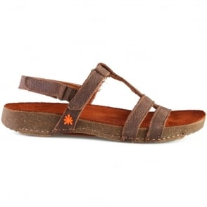 The Art Company I Breathe 0972 Sandal Moka, with 2 adjustable velcro straps