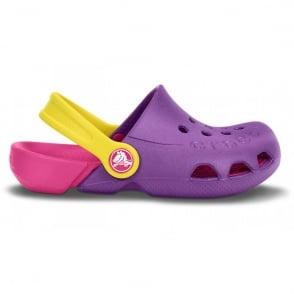 Crocs Kids Electro Shoe Dahlia/Candy Pink, light weight clog, double colours - double fun!
