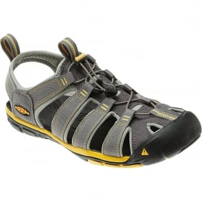 KEEN Mens Clearwater CNX Gargoyle/Super Lemon, a low profile lightened version of the orignal sandal
