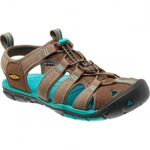 KEEN Womens Clearwater CNX Shitake/Baltic, a low profile lightened version of the orignal sandal