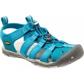 KEEN Womens Clearwater CNX Caribbean Sea/Pumice Stone, a low profile lightened version of the orignal sandal