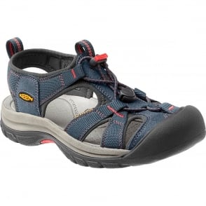 KEEN Womens Venice H2 Midnight Navy/Hot Coral, wear these in and out of the water for all day comfort