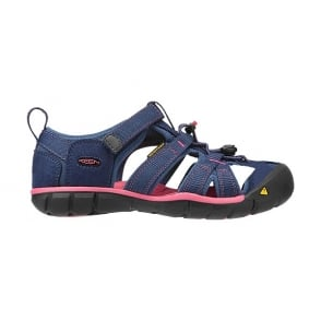 KEEN Kids Seacamp II Ensign Blue/Camellia Rose, a low profile lightened version of the orignal sandal