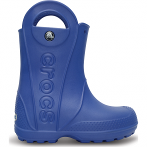 Crocs Kids Handle it Rain Boot Sea Blue, Easy on wellington