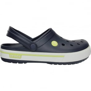 Crocs Crocband II.5 Clog Navy/Citrus, Retro styled slip on croslite shoe