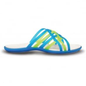 Crocs Womens Huarache Flip Ocean/Oyster, Comfortable playful, strappy flip