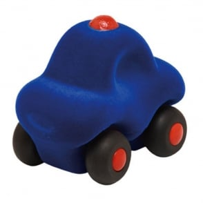 Rubbabu The Micro Police Car, Natural foam toys in simple shapes and bright colours