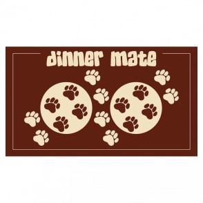 Pet Rebellion Dinner Mate Brown (40x60cm), Helps soak up spills and messes