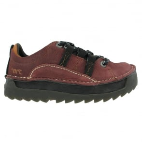 The Art Company 0590 Skyline Shoe Amarante-Carbone, Chunky leather lace up shoe