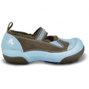Crocs Kids Dawson Mary Jane Sky Blue, warm fuzzy upper combined with the croslite material footbed