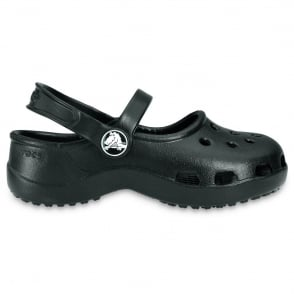 Crocs Kids Mary Jane Black, stylish sling back flat with room for jibbitz
