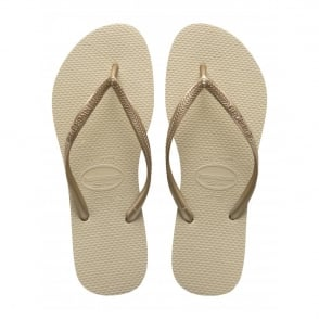 Havaianas Kids Slim Sand Grey/Light Golden, Slim fitting flip flops