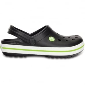 Crocs Crocband Shoe Onyx/Volt Green, All the comfort of a Classic but with a Retro look