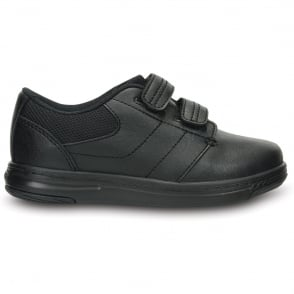 Crocs Uniform Shoe PS Black, comfortable leather school shoe
