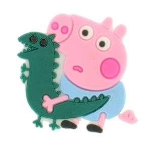 Shoe Charms Peppa Pig George with Dinosaur