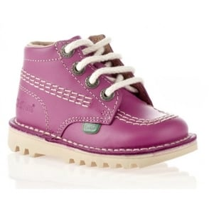 Kickers Kick Hi Infant Leather Blossom, Lace up boot