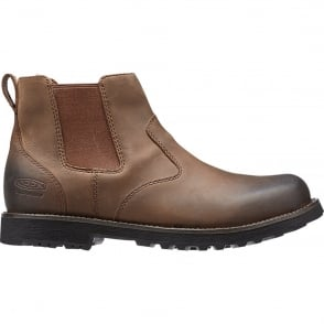 KEEN Mens Tyretread Chelsea Boot Peanut, Comfortable leather ankle boot