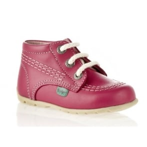Kickers Kick Hi Baby Blossom, iconic lace up first walker boot