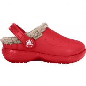 Crocs Kids ColourLite Lined Clog Pepper/Tumbleweed, Winter just got lighter and brighter