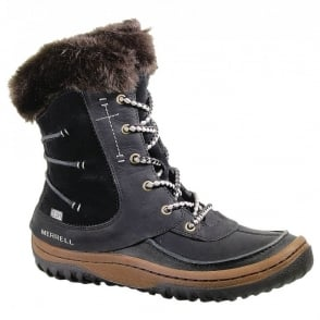 Merrell Decora Sonata Black, Waterproof Boot with Warmth