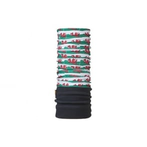 Polar Buff Welsh Flag, 2 Layer cylindrical headgear