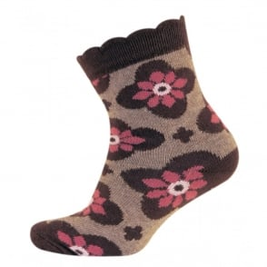 Melton Baby Sock Bubble Dianthis 785 Plum, Wave-shaped cuff for an irresistible look